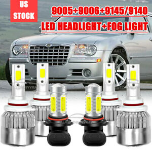 For Chrysler 300 2005 2006 2007 2008 2009 2010 Led Headlight Fog Light 6pcs Bulb