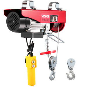 440lbs Electric Hoist Winch Lifting Engine Crane Ceiling Pulley Overhead Crane