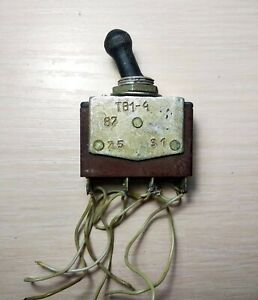 Vintage Tv1 4 Toggle Switch 2 Position Ussr Used