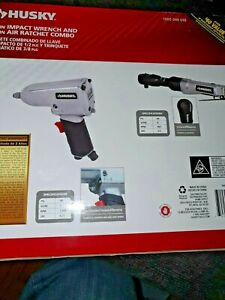 Husky 1 2 In Impact Wrench And 3 8 In Air Ratchet Combo 722470290964