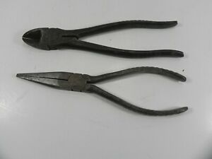 Snap On 96 87 Vacuum Grip Handle Needle Nose Diagonal Side Wire Cutter Pliers