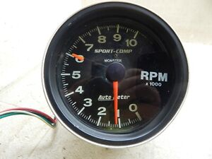 Auto Meter Sport Comp Monster Tachomter 10 000 Rpm