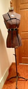 Antique Hall borchert Chicago Dress Form Victorian Adjustable Cast Iron Base