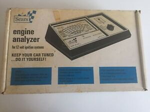 Vintage Sears Craftsman Automotive Engine Analyzer 2161 With Manual