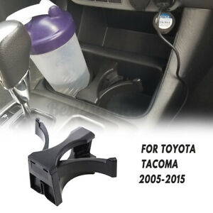 Black Center Console Cup Holder Insert Divider For Toyota Tacoma 2005 2015 New