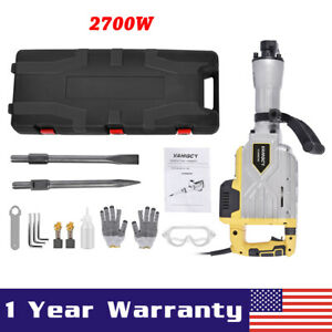 2700w Demolition Jack Hammer Electric Concrete Breaker Chisel Heavy Duty 1900rpm