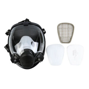 7 In 1 Facepiece Respirator Full Face Gas Mask Spraying Painting Safety Reusable