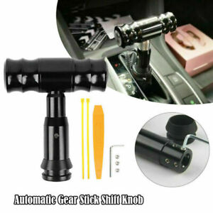 Aluminum Automatic Car Gear Stick Shift Knob Lever Shifter With Button Universal Fits Honda