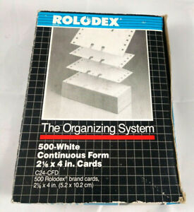 Rolodex 500 Ct White 2 1 6in X 4in Rotary Refill Cards C24 cfd