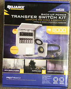 Reliance 306lrk Complete Pre wired 6 circuit Transfer Switch Kit P2 Brand New