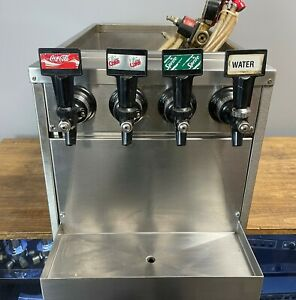 Four Head Stainless Steel Concession Stand Fountain Drink Dispenser Head