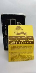 Vintage Airguide Nomad Deluxe Auto Compass No 79b W Box Parts Only Broken