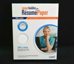 Career Builder Resume Paper 250 Sheets 8 5 X 11 24lb Standard Weight White