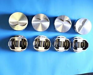 Forged Flat Pistons 383ci Small Block Chevy Flat Top 3 7cc 2v 5 7 Rod Set Of 8