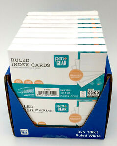 1600 Index Cards 3x5 White Ruled Lot Of 16 100 Per Pack Pen Gear School
