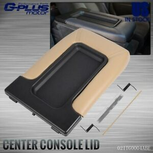 Center Console Fit For 1999 07 Chevy Silverado 19127366 Lid Armrest Latch Beige