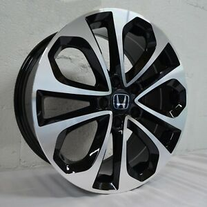 4 653 18 Inch Black Machined Rims Fits Honda Civic Si 2006 2015