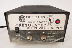 Recoton Solid State Regulated 13 8v Power Supply Radio Ham Sw Transmitter Works