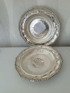 Pair Paul Storr Antique Georgian Sterling Silver Dishes 1811