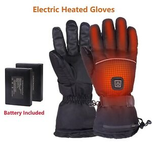 Rechargeable Electric Heated Gloves Touch Screen Men Motorcycle Ski Warm Gloves