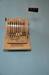 Vintage Paymaster 8000 Series Check Writer With Key And Cover