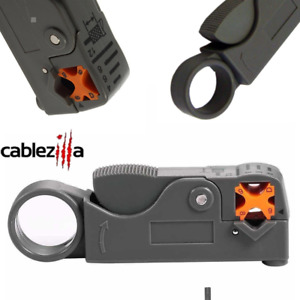 Coaxial Cable Stripper Tool Wire Cutter Rg6 Rg11 Rg58 Rg59 Coax Stripping Rotary