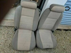 Mustang Bucket Seats Light Tan Cloth Rare Driver Power