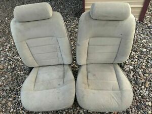Ford Mustang Front Bucket Seats Gray Cloth With Pattern