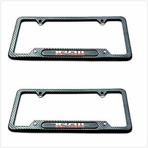 Carbon Fiber Trail Boss Rust Fre License Plate Cover Frame Cap For Chevrolet Gmc