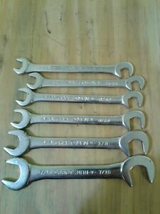 Craftsman V Series Ignition Midget Combination Wrench Lot Of 6