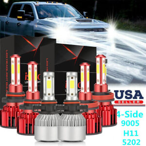 White For Chevrolet Silverado 1500 2007 2015 Led Headlight Fog Light Bulbs Kit