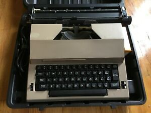 Vintage Sears Best Corrector Portable Electric Typewriter With Cord Case Extra