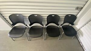 Set Of 4 Herman Miller Caper Stacking Chairs