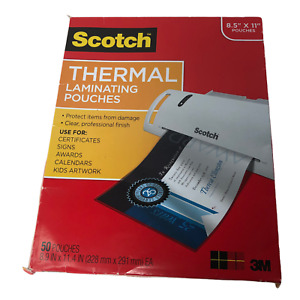 Scotch Thermal Laminating Pouches 50 pack 8 9 X 11 4 inches 3 Mil Thick Sheets