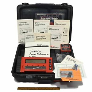 Briefly Used Snap On Diagnostics Scanner Mt2500 Complete In Case W 2 Cartridges