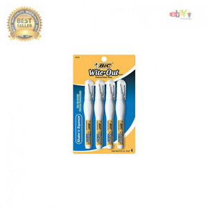 Bic Wite out Shake n Squeeze Correction Pen 8 Ml White 4 Pack White