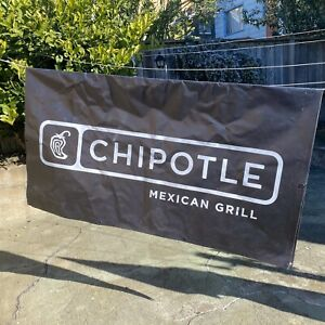 Cool Chipotle Mexican Restaurant County Fair Banner Sign 71 X 39 Double Sided
