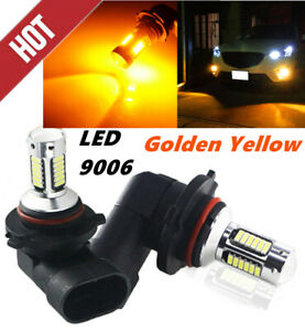 Pair 9005 9006 Hb4 3000k Yellow Led 100w Super Bright Fog Driving Light Bulb Kit