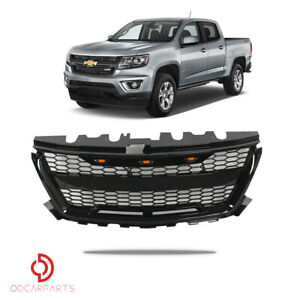 Fits Chevrolet Colorado 2015 2019 Front Upper Grille Raptor Style Gloss Black