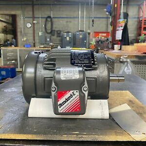 1 Hp Baldor Electric Motor 3 Phase 143t Frame M3581t 1740 Rpm