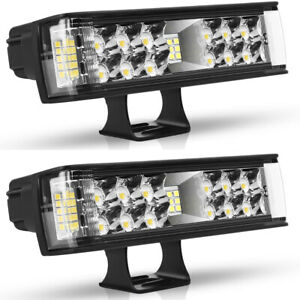 2x 7inch 1200w Led Pods Light Bar Spot Truck Offroad 4wd Suv Driving Fog Light