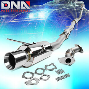 4 Rolled Tip Stainless Exhaust Turbo Catback Pipe For 02 07 Subaru Wrx Sti Gd Gg