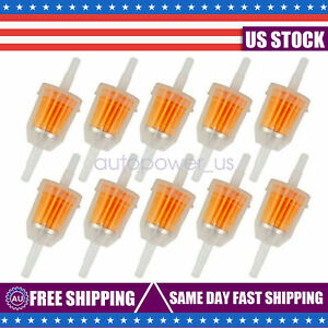 10pcs Motor Inline Gas Oil Fuel Filter Small Engine For 1 4 5 16 Line Us