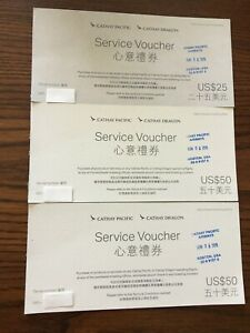 Cathay Pacific service voucher $125 card airport and shopping on plane only $59.00