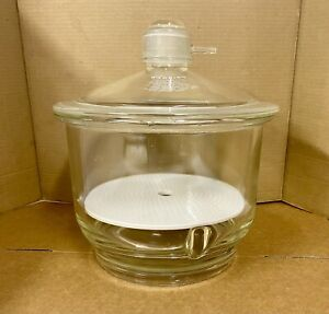Pyrex Vacuum Desiccator With Plate 8 Liters 10 Inch 250mm Id Glass