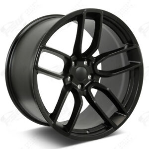 20 Flow Forged Hellcat Style Satin Black Wheels Fits Dodge Charger Challenger