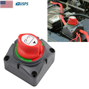 12v Battery Isolator Disconnect Rotary Switch Cut On Off For Car Rv Marine Boat
