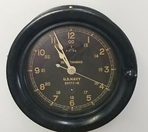 Ww Ii Seth Thomas Us Navy Ship S Clock Sn 58571 E W Key Works Great