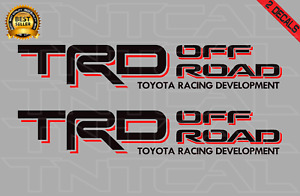 Toyota Trd Offroad Decal Set Tacoma Tundra Truck Bedside Vinyl Sticker Black red