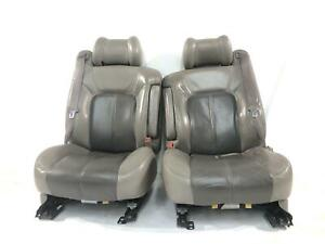2000 2002 Gmc Yukon Denali Front Seat Set Shows Wear Pewter 922